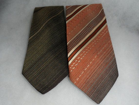 1970s VINTAGE FREDERIC A Ties  Distinguished Cravats  by BYGONERA
