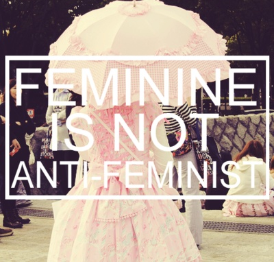 feminist musings  [And likewise feminism shouldn't be anti-feminine. Sansa Stark, queen in the North!]