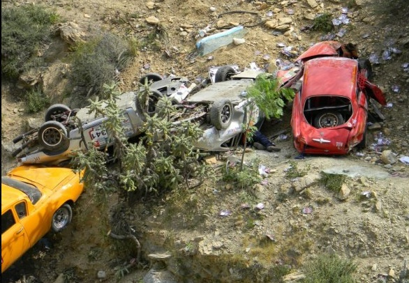 Classic car crash