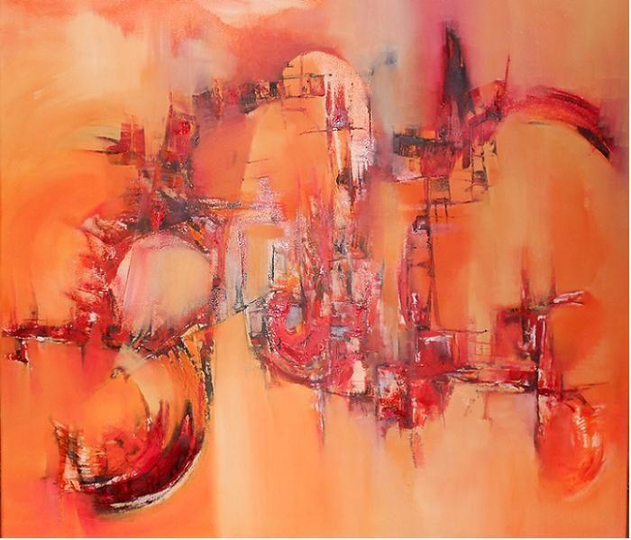 """""""Tendiendo puentes"""" - Silvia Hilerowicz - Oleo sobre tela - 80 x 90 cm  www.esencialismo.com"""