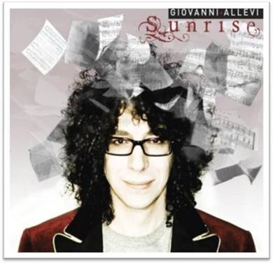 Italian pianist and composer Giovanni Allevi is wearing Etro on the cover of his latest album Sunrise