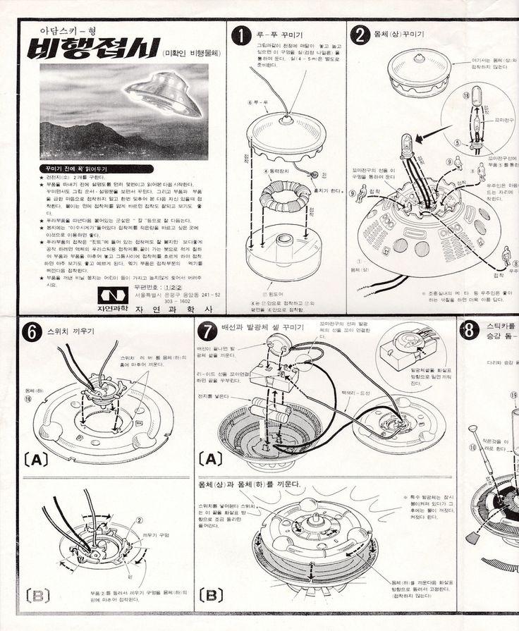 Paperworks, Instruction Manuals of My Nostalgic Kits and Toys – Zayoen Guahak Adamski Type UFO (자연과학 아담스키-형 비행접시) Instruction Manual First Half