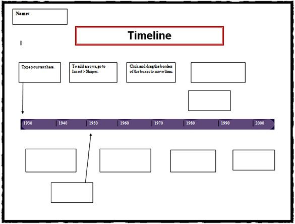 3 Vertical Timeline Template Timeline Words