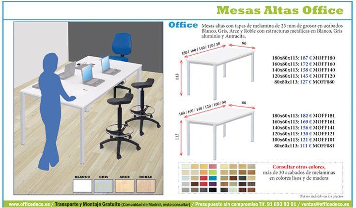 Mesas altas office para trabajos en linea.