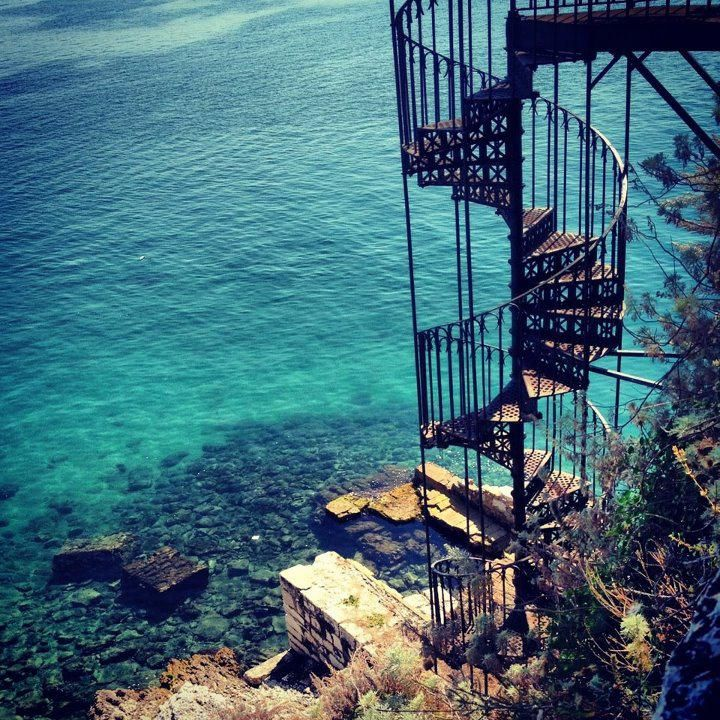 Spiral Staircase in Corfu, Greece