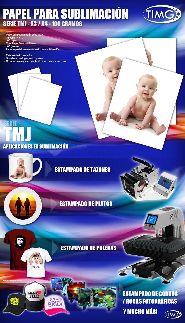 Papel de Sublimacion A4, TMJ, Resma $2.750 100 hojas tenemos nuevas calidades de suministros sublimación economicos http://www.suministro.cl/product_p/1030010005.htm