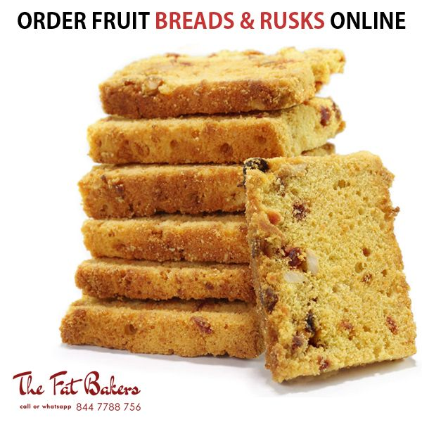 Order Fruit Breads & Rusk Online New Delhi, India from The Fat Bakers - Best Price Shop & Home Delivery Service Available. Our service areas are Kirti Nagar, Patel Nagar, Karol Bagh, Rajender Nagar, Shadipur, Narayna, Moti Nagar, Ramesh Nagar and all over Delhi.  Call or WhatsApp +91- 844 7788 756 or Visit: - http://thefatbakers.com/bread-n-rusks-in-new-delhi.html