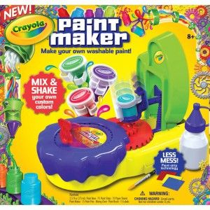 Uses water-based base paint and an innovative color strip mixing system to let kids create any colors they imagine. No-mess.
