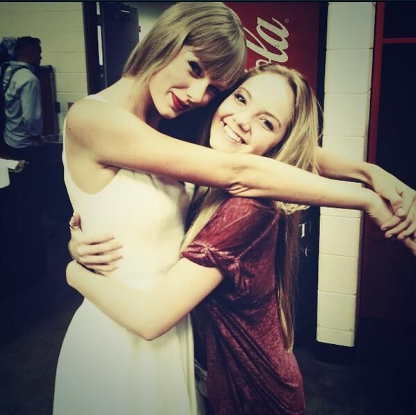 Taylor w/ Danielle Bradbury, the winner of The Voice this past season