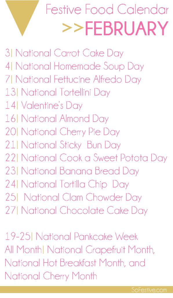Festive Food Calendar: February