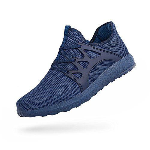 9ee129e4e06b ZOCAVIA Chaussures de Sport en Mesh Homme Femme Basket Lacets Chaussure  Running Leger Et Confortable Bleu