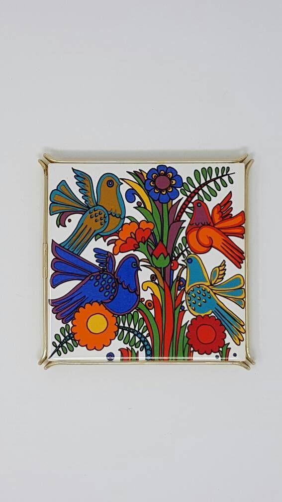 1970s Villeroy Boch Pot Coaster Acapulco Design