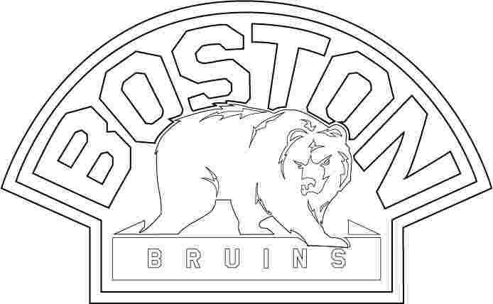 Boston Bruins Symbol Coloring Pages In 2020 Sports Coloring