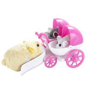 Zhu Zhu Pet Hamster Deluxe Accessories:  Baby Hamster Stroller $15