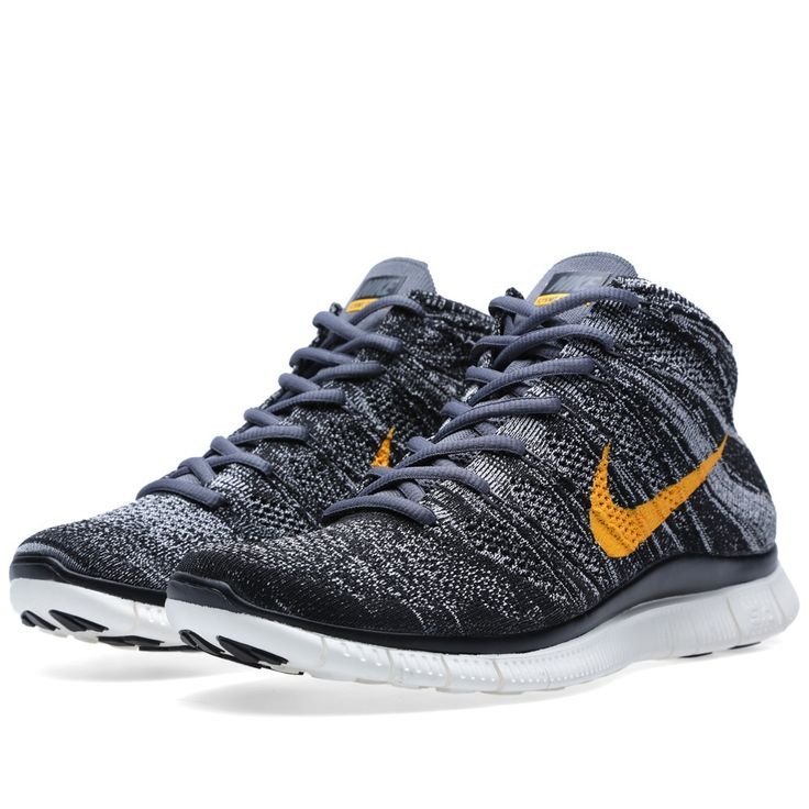 Nike Free Flyknit Chukka SP (Black & University Gold) · Running Shoes ...