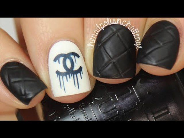 Easy #Chanel Designer Nail Art #nailart #unghie #fashion #moda