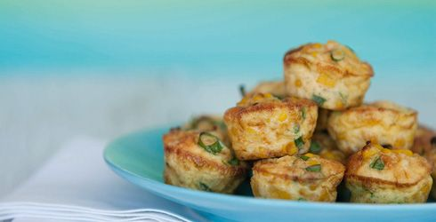 Spring Onion and Sweetcorn Baby Frittatas - Recipes | OHbaby!