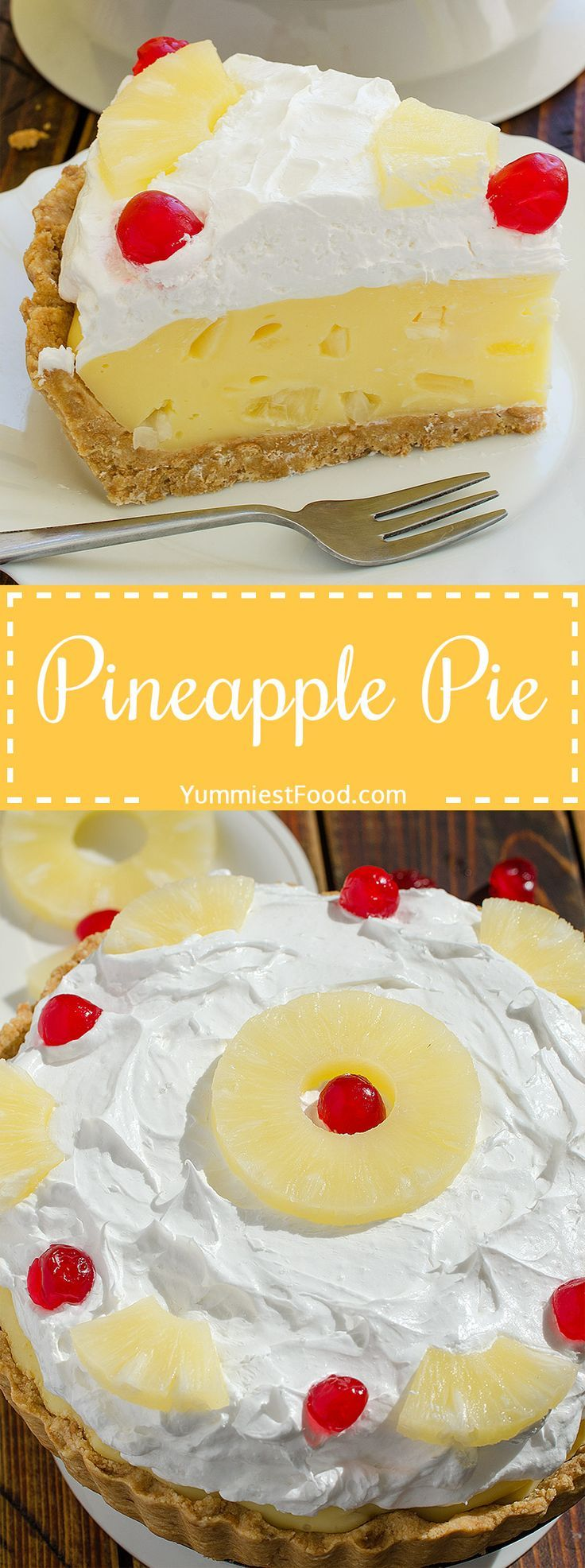Pineapple Pie a quick recipe for creamy, refreshing and so delicious summer pie. Pineapple Pie the most easy and best tasting pie!