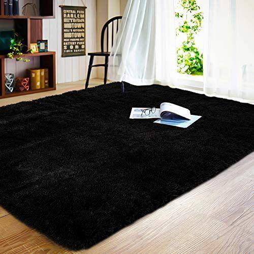 Joyfeel Soft Bedroom Rug 5 X8 Black Large Shaggy Fur Floor Area Rugs Non Slip Comfy Living Room Carpet In 2020 Floor Area Rugs Living Room Carpet Comfy Living Room