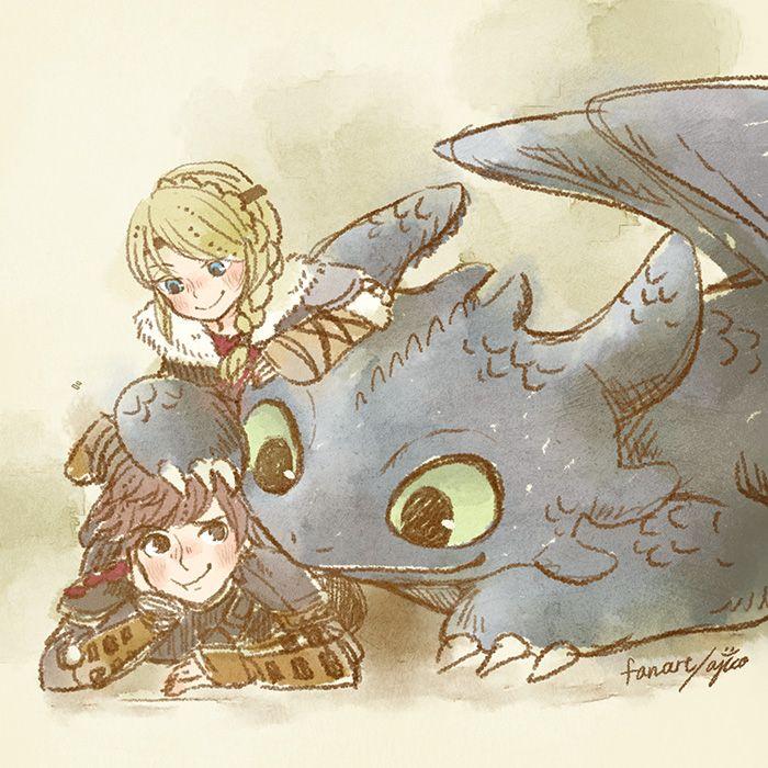 Hıccsτrıd F α n α rτ < Hiccup, Astrid, and Toothless. :)