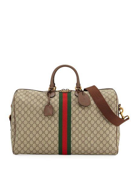 e9cecd0a2541 GUCCI MEN'S OPHIDIA GG SUPREME DUFFEL BAG. #gucci #bags #canvas #leather # lining #shoulder bags #linen #hand bags #nylon #cotton