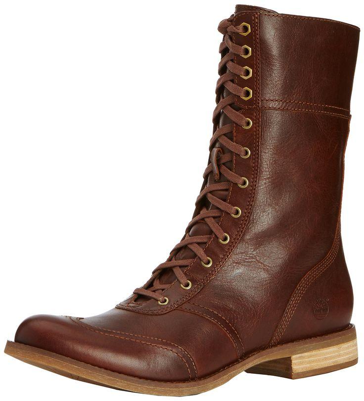 Timberland Women's EK Savin Hill Mid Zip Toe-Cap Boot,Glazed Ginger. These