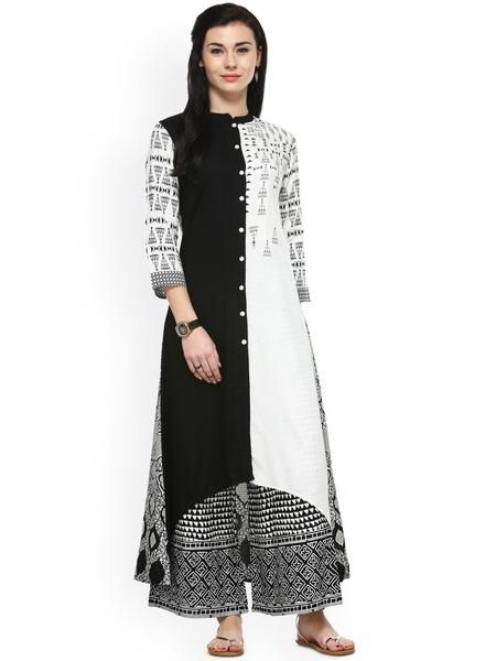 a4585091be White & Black Printed Kurta with Palazzos Printed Palazzo Buy Halter Neck Palazzo  Suits Online in 2019 | Plazo Suits | Palazzo suit, Palazzo dress, ...