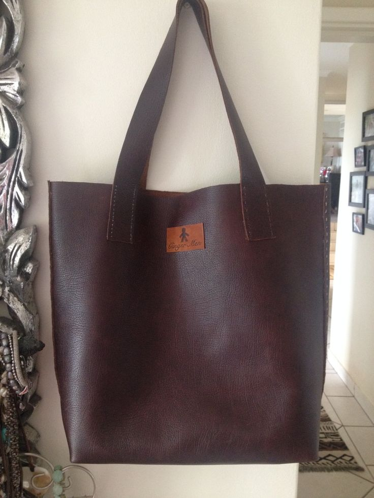 Hand Sewn Brown leather Tote bag