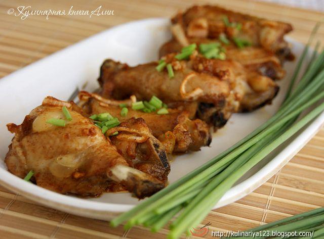 Кулинарная книга Алии: 464. Чесночные куриные крылышки