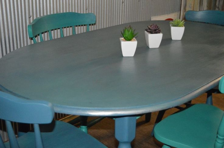 ONE OF A KIND - STUNNING Shabby Chic Dining setting with 4 chairs