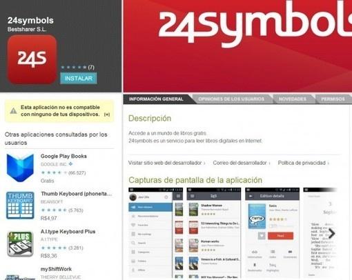#24symbols , para leer libros digitales, ya tiene #App para #Android