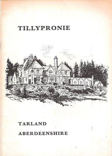 Tillypronie, Tarland, Aberdeenshire., Unknown.