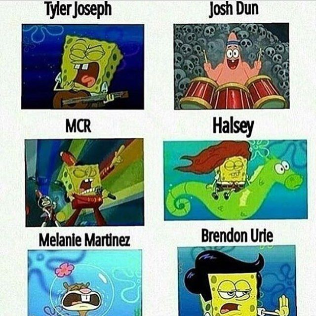 Fall Out Boy is the one with the Flying Dutchman band thing lol