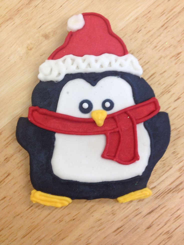 Cute Christmas penguin biscuit