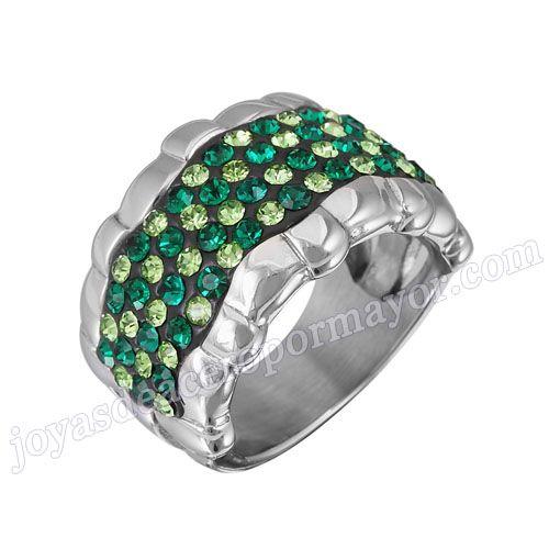 Material: Acero Inoxidable   Nombre:Diseno italiano anillos de la joyería de acero con diamante   Model No.:SSRG189   Peso:10.2G