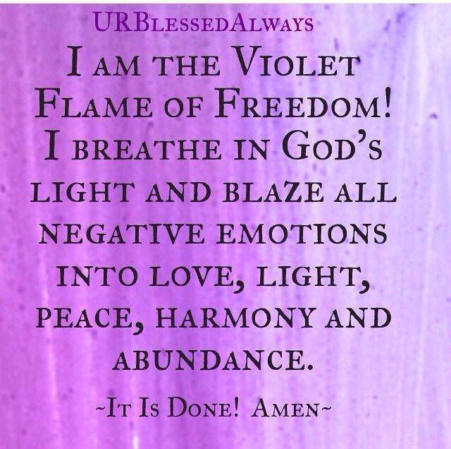 Violet Flame prayer. Saint Germain, transmute, alchemy, power words