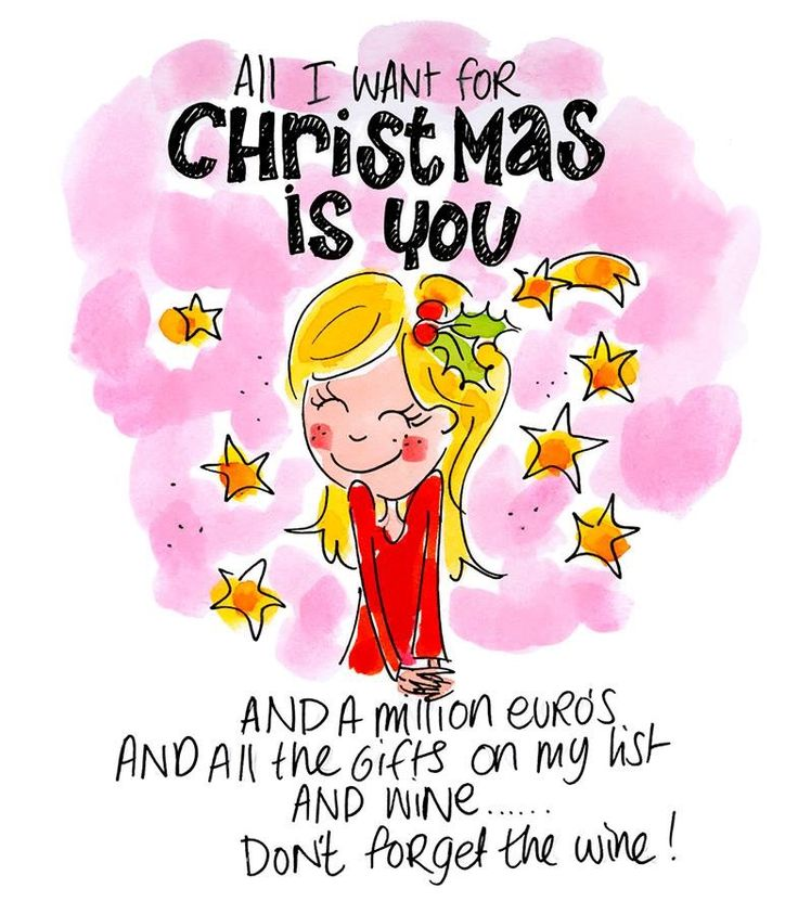 All I want for Christmas is you. And a million euro's and all the gifts on my list and wine...don't forget the wine! - Blond Amsterdam