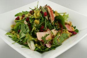 Salat med æble, granatæble og orangedressing 4