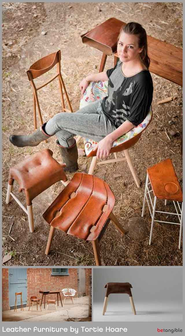 sedie, sedute pelle leather furniture tortie hoare 1 MXS Shaped Boiled Leather Furniture by Tortie Hoare