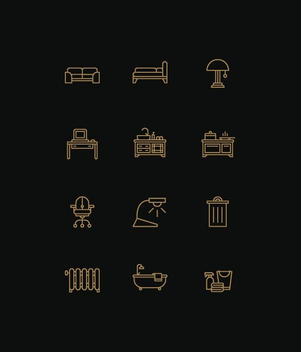Furniture and Interior Icons by Designer Tim Boelaars