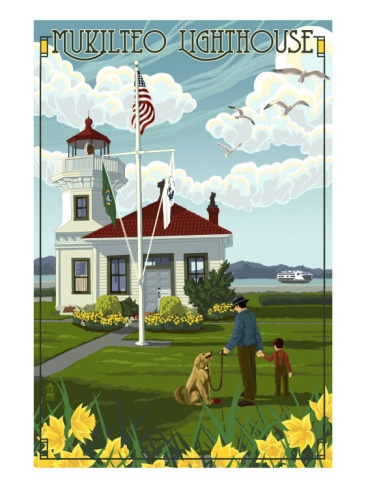 Mukilteo Lighthouse - Mukilteo, Washington Premium Poster at Art.com