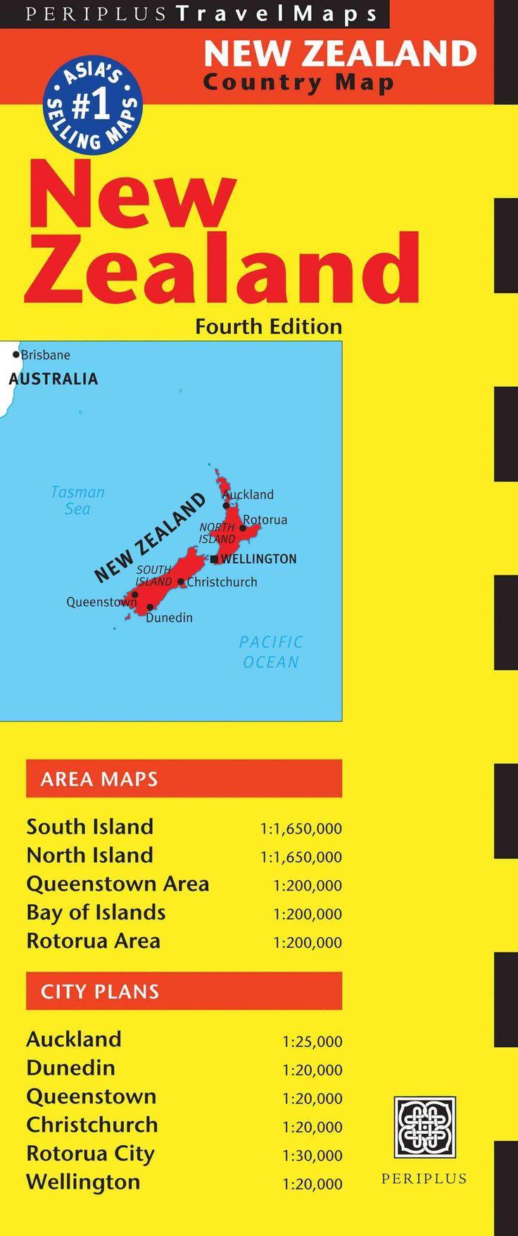 Periplus Travel Map New Zealand