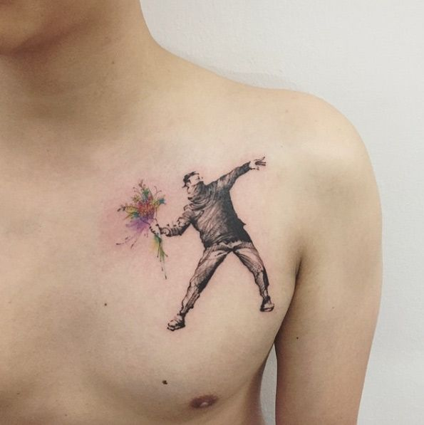 Banksy tattoo design by Hongdam
