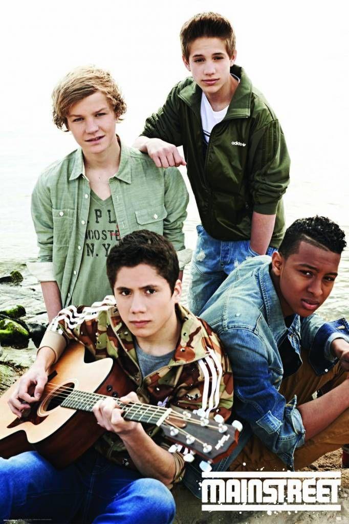 Een poster van de Nederlandse boyband Mainstreet nu verkrijgbaar op www.merchandisehouse.nl