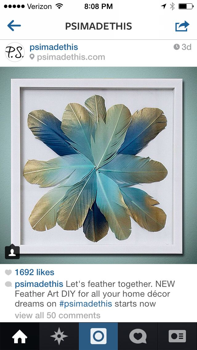 Feather DIY Frame NYC Apt UES Pinterest And