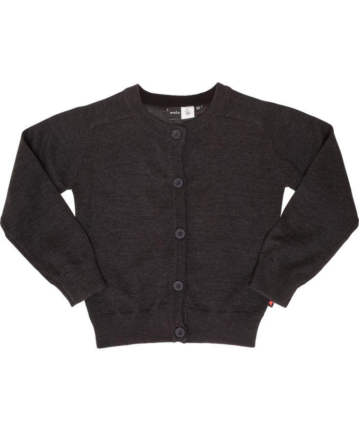 Molo lovable classic dark grey cardigan. molo.en.emilea.be