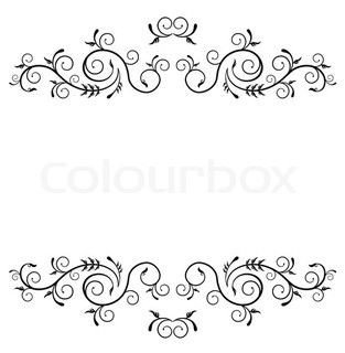 wedding cake piping templates possibly for royal icing scrollwork cakes 23471