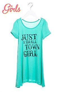Girl's Just A Small Town Girl Dress