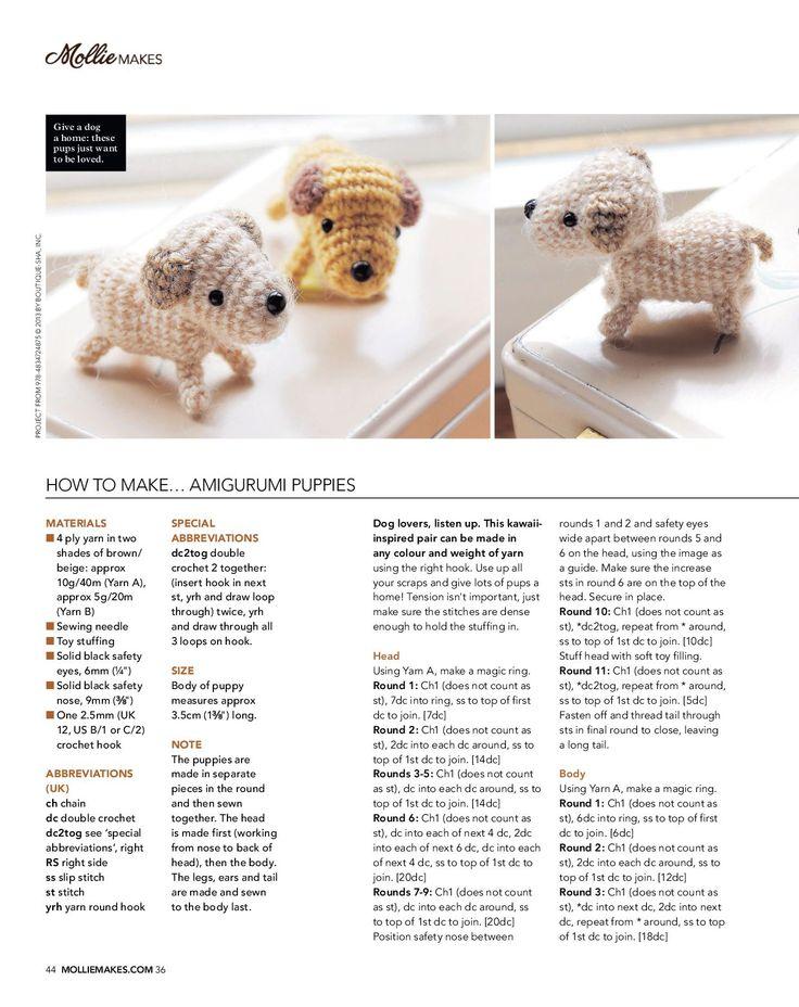 93 best perritos y gatos amigurumi images on Pinterest | Animales de ...