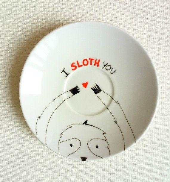I Sloth You Plate I Love You Decorative Plate by StudioFroezel, €15.00